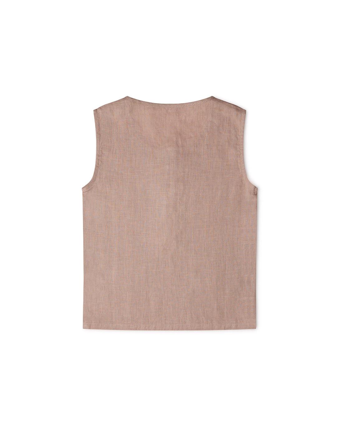 Matona - linnen tantkop FAWN - 100% linnen - oud roze - 1 tm 6 jaar