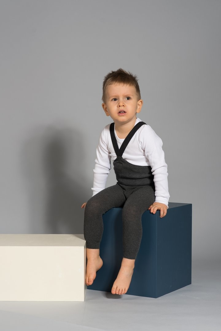 Silly Silas footless tights with braces - 100% cotton - dark grey blend - 6 m to 4 years