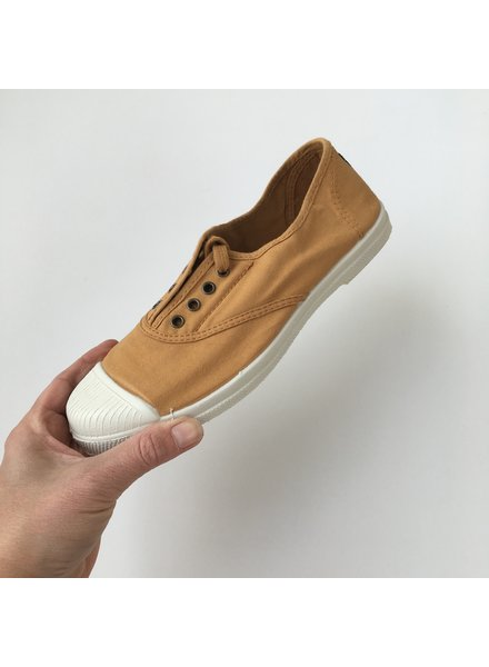 NATURAL WORLD - eco sneakers women - 100% organic cotton / 100% natural rubber -  mustard yellow