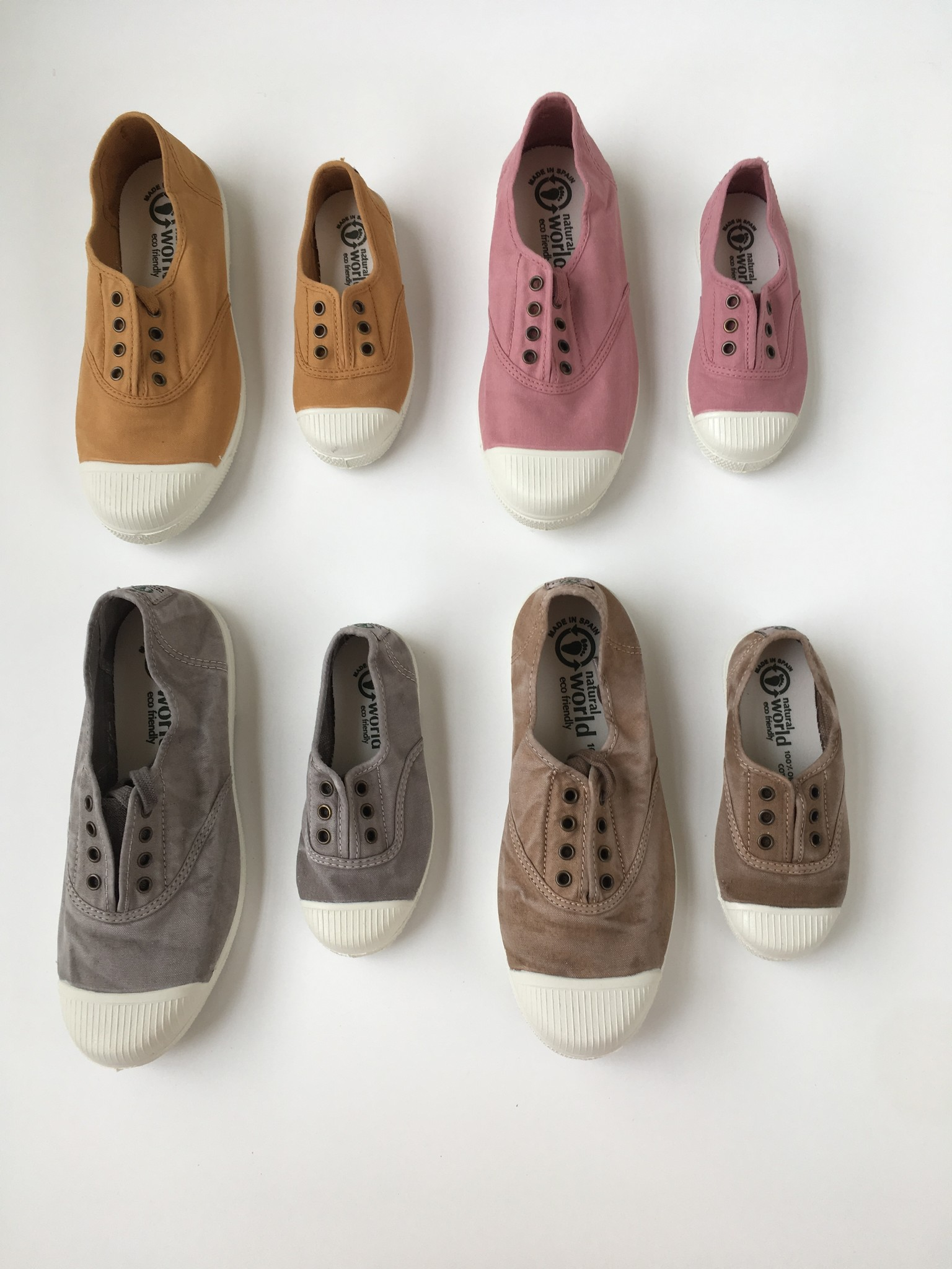 NATURAL WORLD - eco sneakers dames - 100% biologisch katoen/100% natuur rubber - oud roze