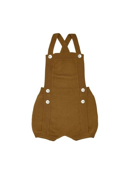 FUB - knitted baby overalls body with bloomers - 100% organic cotton - sienna - 56 to 92