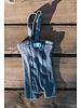 Silly Silas - korte maillot/ shorts met bretels - 100% katoen - steel blue -  0 tm 3 jaar