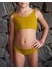 Isole e Vulcani  naadloze meisjes bikini DUE PEZZI -  bio jersey katoen met stretch - geel - 3 tm 10 jaar