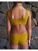 Isole e Vulcani  seamless girls bikini DUE PEZZI - organic jersey cotton with stretch - yellow - 3 to 10 years