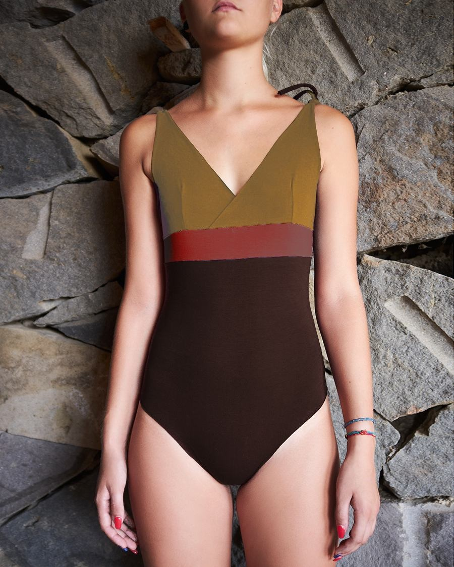 Isole e Vulcani  women swimsuit INTERO - organic jersey cotton with stretch - multi colors - S to L
