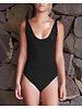 Isole e Vulcani  women swimsuit INTERO - organic jersey cotton with stretch - black - S to L