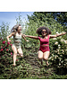 Isole e Vulcani  naadloze dames bikini retro DUE PEZZI -  bio jersey katoen met stretch - framboos rood - S tm L