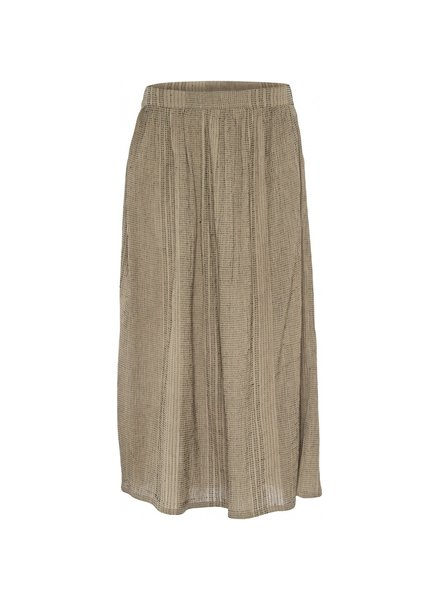 GAI + LISVA - midi skirt ELA - 100% organic cotton - chateau gray stripes - 34 to 44
