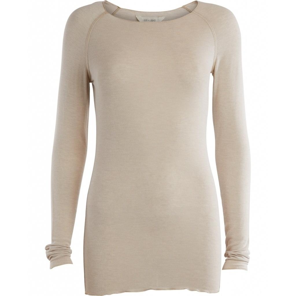 GAI + LISVA - longsleeve AMALIE - 28% wool, 67% viscose - chateau grey  - XS to XL