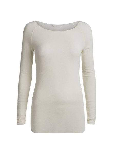 GAI + LISVA - longsleeve AMALIE - 28% wool, 67% viscose - off white  - XS to XL