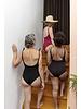 Isole e Vulcani  - women swimsuit INTERO - organic jersey cotton with stretch - marsala red - S to L