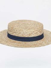 Siena - straw hat / CANOTIER  hat  - child & ladies - blue ribbon