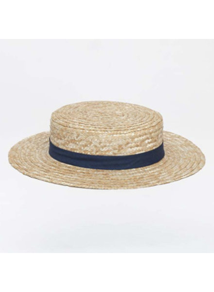 Siena - straw hat / CANOTIER  hat  - child & ladies - blue ribbon