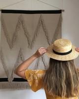 Siena - straw hat / CANOTIER  hat  - child & ladies - black ribbon