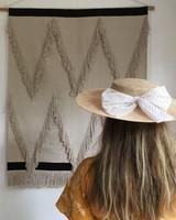 Siena - summer hat / PADUA  hat  - child & ladies - beige polkadot bow