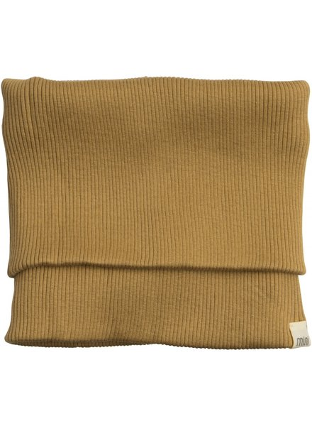 Minimalisma - silk children's snood  BIRK - fine rib - 70% silk / 30% cotton - ochre