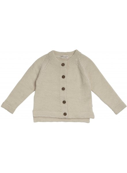 Minimalisma - wool cardigan KOBENHAVN - 100% alpaca -cream - 1m to 6 years