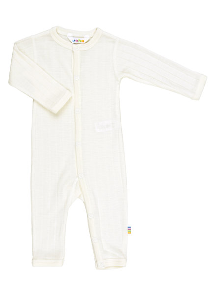 JOHA woolen baby suit / jumpsuit - 85% merino / 15% silk - off white