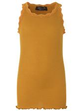 Rosemunde zijden meisjes top LOU - 55% zijde/ 45% katoen - mosterd goud - 4 tm 14 jaar