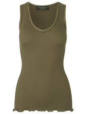 Rosemunde women top silk top COLETTE - 70% silk / 30% cotton - olive green - S tm XL