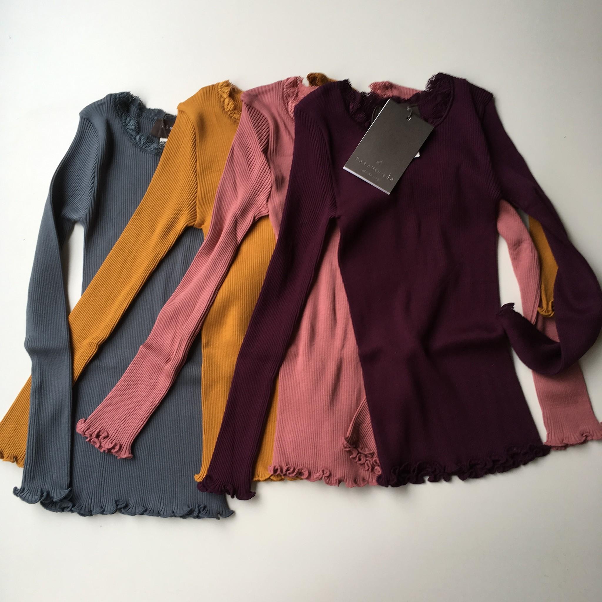 Rosemunde zijden meisjes shirt LIZ - 55% zijde/ 45% katoen - oud roze - 4 tm 14 jaar