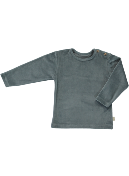 Poudre Organic velour longsleeve ESTRAGON  - 100% organic cotton - stormy weather  - 1 month to 8y