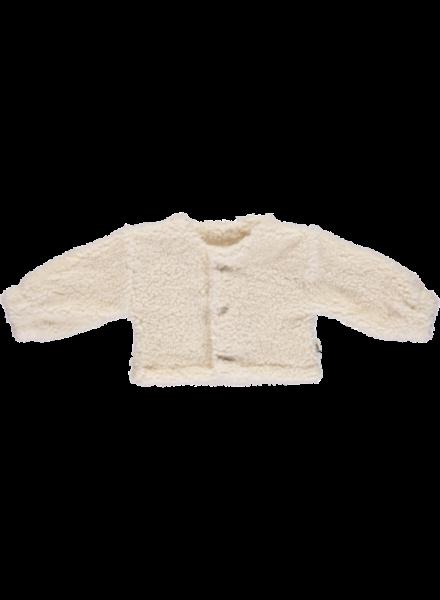 Poudre Organic teddy vest FIGUE - 70% biologisch katoen - wit - 1 tm 12 jaar
