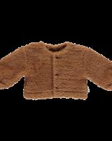Poudre Organic teddy vest FIGUE - 70% biologisch katoen - bruin - 1 tm 12 jaar