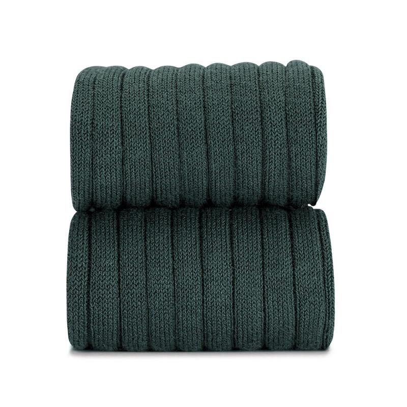 Condor cotton tights - wide-rib basic - pine green - 50 to 180 cm