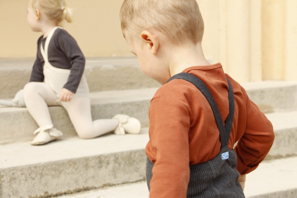 Silly Silas tights with braces - 100% cotton - cream - 0 m to 3 years