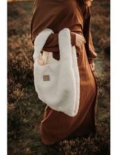Alwero woolen SHOPPER - 100% merino teddy pile - natural  white