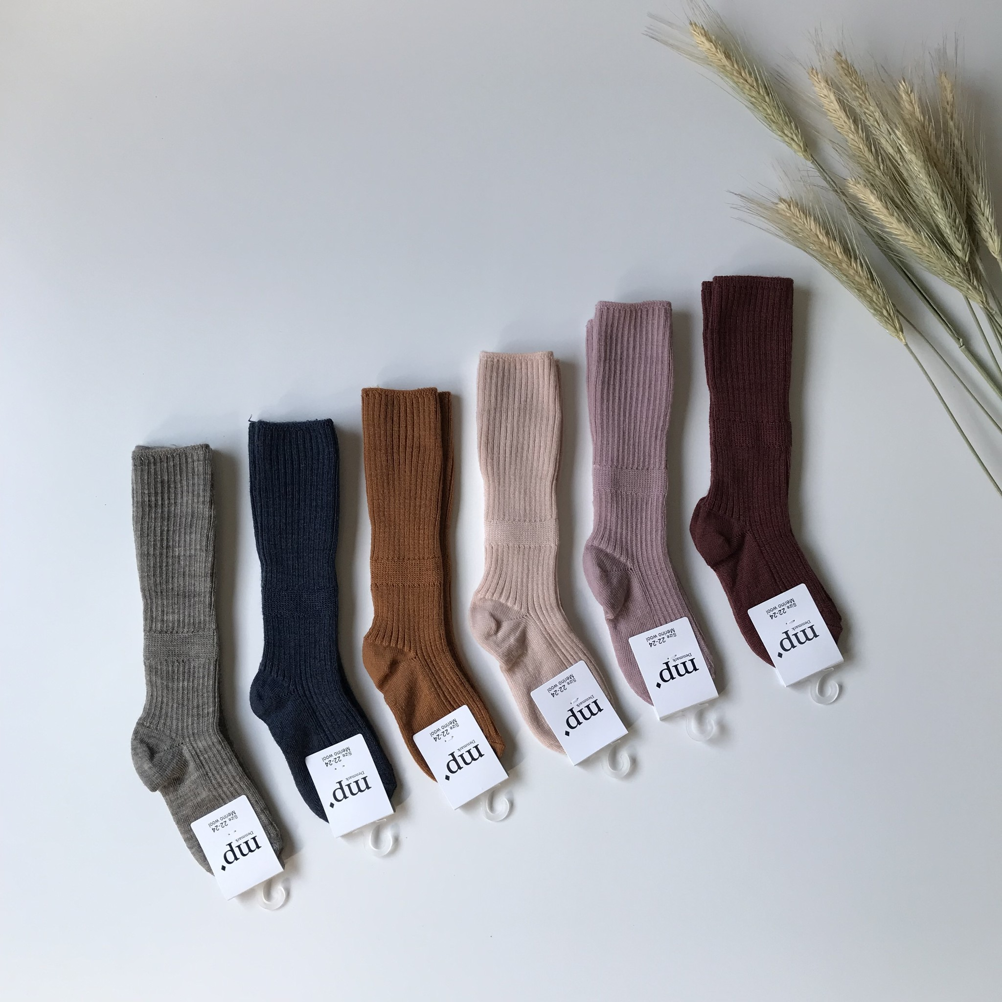 MP Denmark wollen kniekousjes - 80% merino wool - groen - maat 15 tm 32