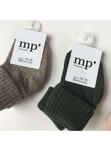 MP Denmark woolen knee socks - 80% merino wool - green - size 15 to 32