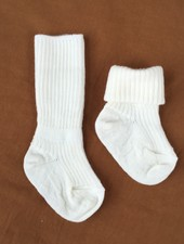 MP Denmark woolen knee socks - 80% merino wool - natural white - size 15 to 32