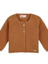 Condor knitted cardigan GARTER - 100% cotton - cinnamon - 3 m to 4 years