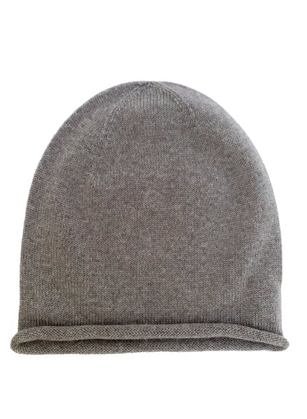 HVID woolen beanie EFA - 100% merino wool - otter brown - 1 to 6 years