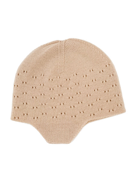HVID woolen baby hat DUA - 100% merino wool - apricot - up to 12 months