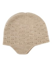 HVID woolen baby hat DUA - 100% merino wool - sand - up to 12 months