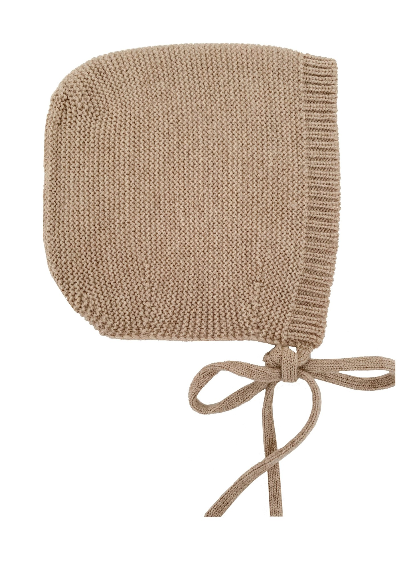 HVID woolen baby bonnet DOLLY - 100% merino wool - sand - up to 3 months