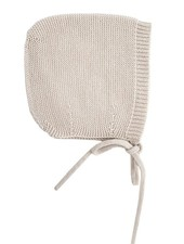HVID woolen baby bonnet DOLLY - 100% merino wool - off white - up to 3 months