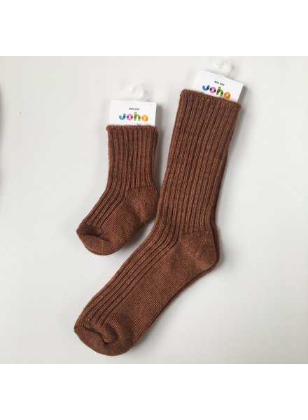 JOHA thick woolen socks - 90% merino - copper - baby to 42