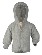 Engel Natur wool baby jacket - 100% merino wool fleece - grey - 50 to 68