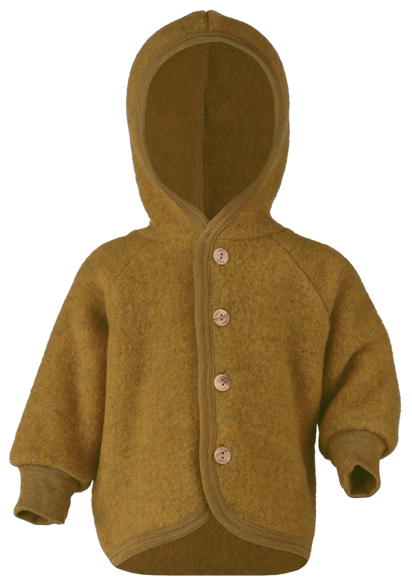 Engel Natur wool baby jacket - 100% merino wool fleece - ocher - 50 to 92