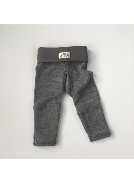 Lilano  wool silk pants - 70% organic merino wool / 30% silk - gray - 56 to 86