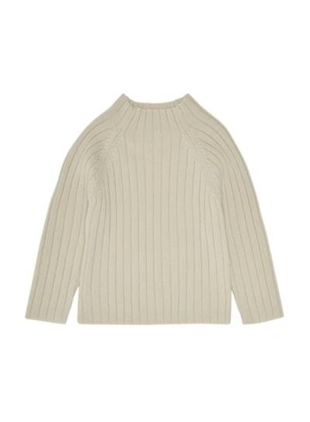 FUB wool sweater with highneck - 100% merino wool - ecru - 80 to 130