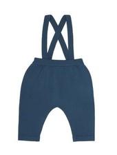 FUB woolen baby pants with suspenders - 100% merino wool - petrol blue - 56 to 92