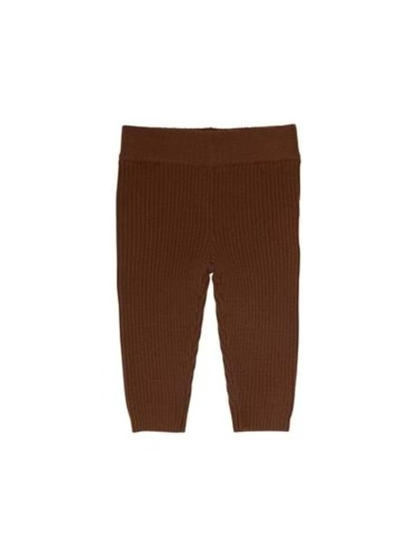 FUB woolen baby leggings - finely knitted 100% merino - brown - 56 to 80