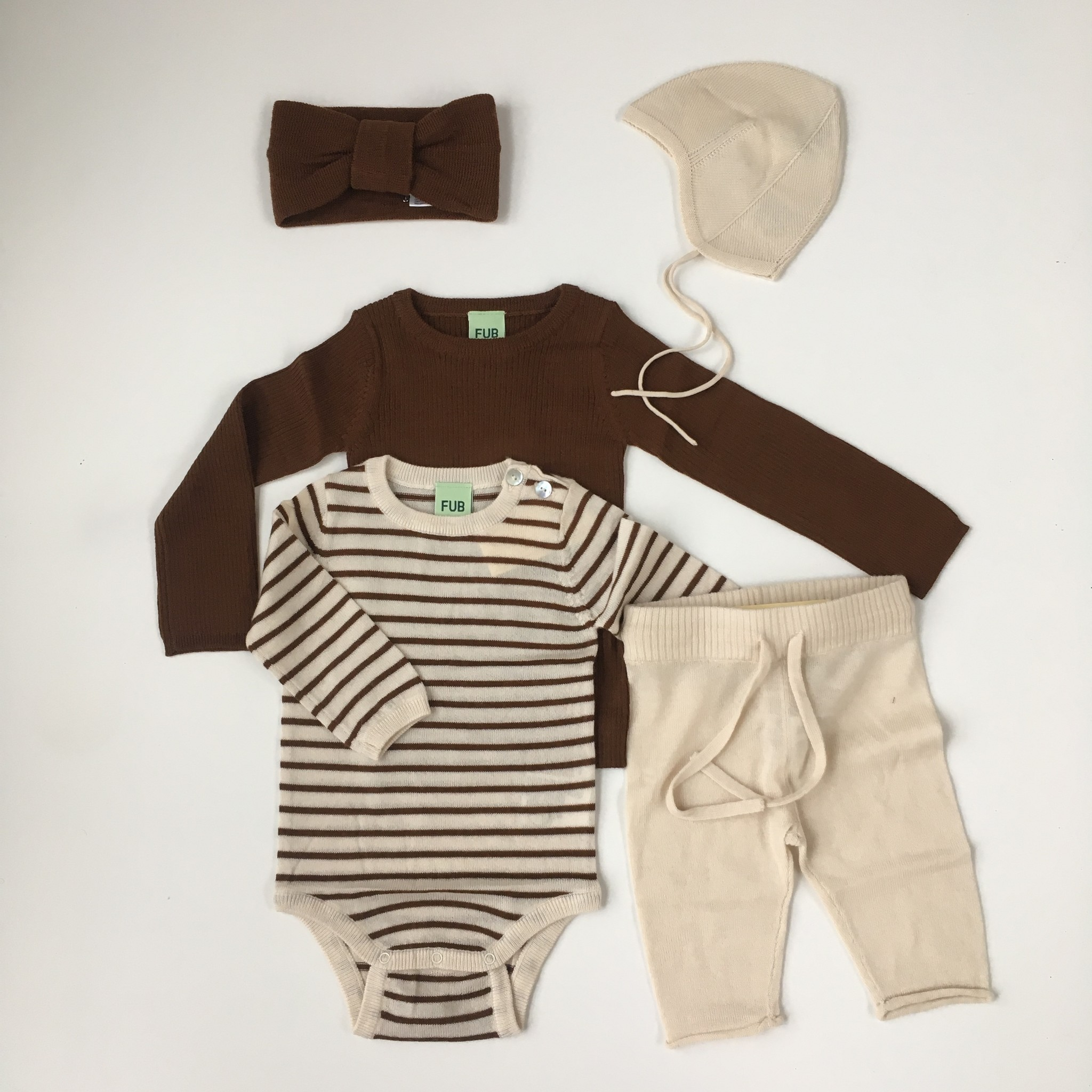 FUB woolen baby pants - 100% merino finely knitted - ecru - 56 to 92