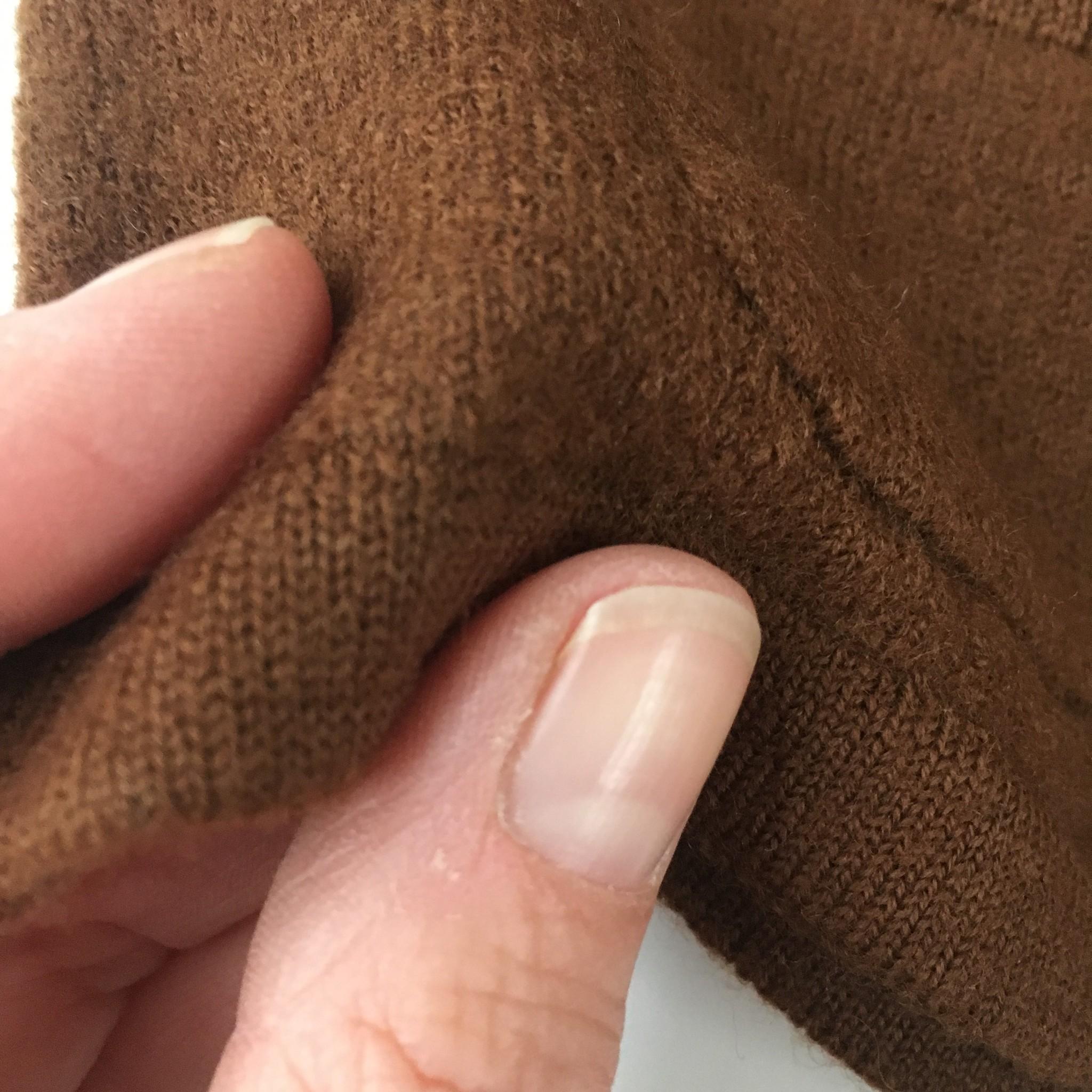 FUB boiled wool baby jacket - 100% merino wool - umber brown - 56 to 92