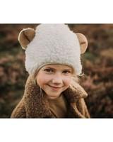 Alwero teddy wollen muts EARSY kind  - 100% teddy wol - naturel wit